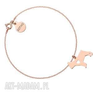sotho bransoletka z różowego złota psem rasy buldog francuski