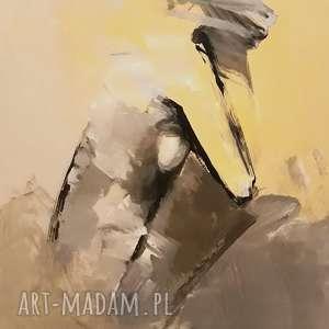 yellow, obraz kobieta, akt obraz, żółty kobiecy abstrakcja