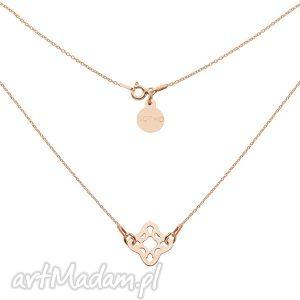 naszyjnik z rozetką z różowego złota - różowe złoto