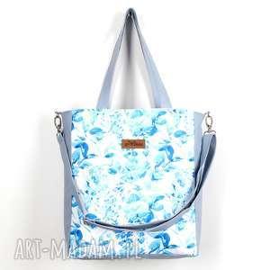 Kolorowa torba w kwioaty wodoodporna, torba, pojemna, mocna, wózek