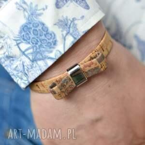 hand-made bransoletka z korka maderro