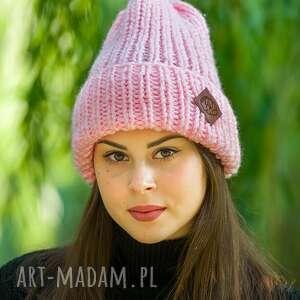 Lucky baby pink czapki brain inside czapka, zimowa, wełniana