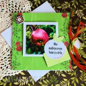 ręcznie wykonane kartki kartka - dla najlepszego nauczyciela