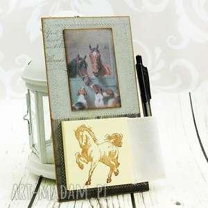 Prezent notes na lodówkę- konie, stajnia, koń, notatnik, kuchnia, zapiśnik, prezent