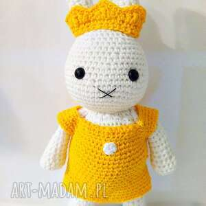 Króliczek a la Miffy - królewna - handmade