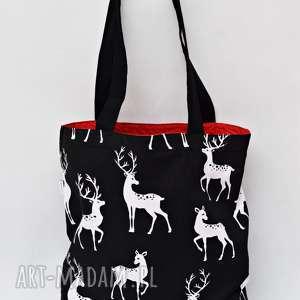 Torba na zakupy Shopperka jelenie torba zakupowa bawełniana szopperka ramię