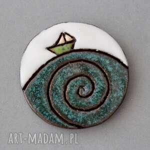 broszki ahoj-broszka ceramika, minimalizm, design, skandynawski, jeansy, prezent