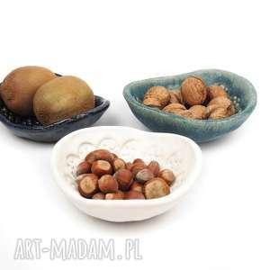 Mix ceramiczne trzy miseczki, ceramika, komplet