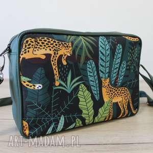 hand made prezent świąteczny single bag - gepardy