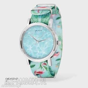 Prezent Zegarek, bransoletka - Morze flamingi, nato, zegarek, bransoletka, nato