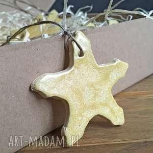 Pomysł na prezent święta? Ceramiczna gwiazdki na choinkę ceramika