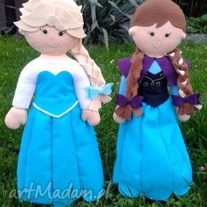 ręcznie zrobione lalki filcowe - anna i elsa
