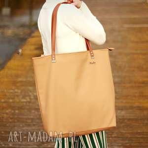 duża torba - beż w miodzie, torba, shoperbag, kobieta, torebka, prezent