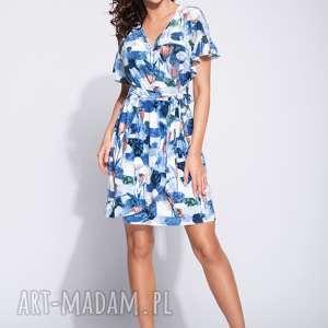 ręcznie wykonane sukienki sukienka w kwiaty z falbanką