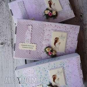 pudełko na zdjęcia - pudełko, komunia, scrapbooking, dziecko, pamiatka