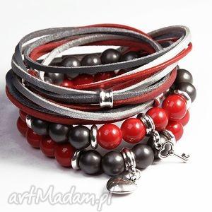 handmade red&graphite