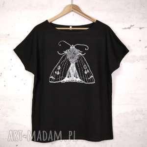 ĆMA koszulka bawełniana z nadrukiem S/M czarna, koszulka, bluzka, nadruk