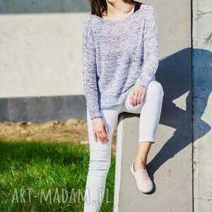 bluzka z dzianiny o luźnym kroju, casualowy sweter, bawełniana bluzka, sweter
