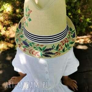 Panama z lawendą czapki liliraj kapelusz, kapelusz panama