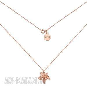 naszyjnik z różowego złota z żonkilem - łańcuszek