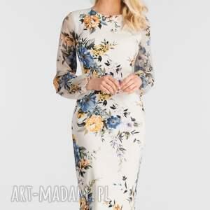Sukienka LIDIA Midi Gardenia, dopasowana