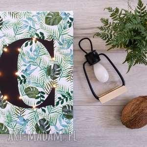 cosniecos świecąca litera monstera obraz led personalizowany prezent lampa tropikalny