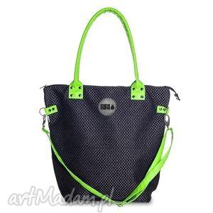 torba worek plecionka czarna, duża, zakupy, podróże