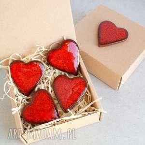 Prezent Walentynkowe serduszka, walentynki, magnesy, serca, romantyczne, upominek,