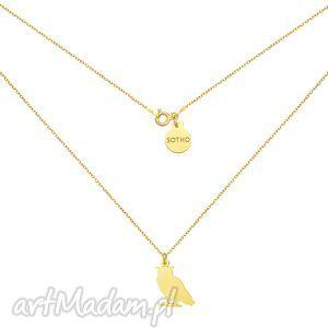 złoty naszyjnik z sową sotho - łańcuszek, sówka