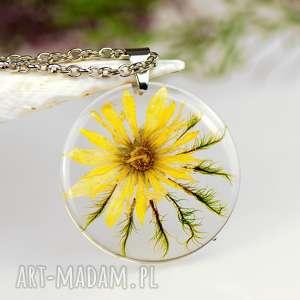 Prezent z1312 Naszyjnik z prawdziwym kwiatem-5cm , naszyjnik-z-kwiatem