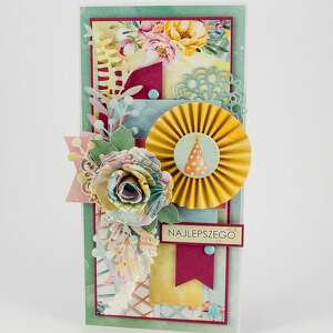scrapbooking kartki bogata, kolorowa kartka urodzinowa