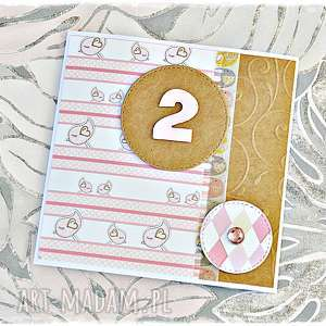 ręcznie wykonane scrapbooking kartki kartka na dowolne urodziny dla dziewczynki