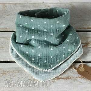 ręcznie zrobione dwustronna chustka odcienie mięty