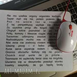 podkładka pod mysz idealna do komputera, 24cm na 19cm, esencja absurdu w ładnym