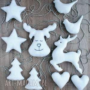 srebrne ozdoby dekoracje bombki zawieszki świąteczne zestaw 10 szt, święta, boże