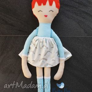 handmade lalki ogromna lalka, 75 centymetrów, ruda modeleczka, laleczka szmacianka.