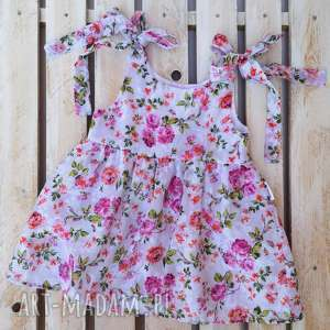 Sukienka little flower ilovemama bawełna, letnia sukienka