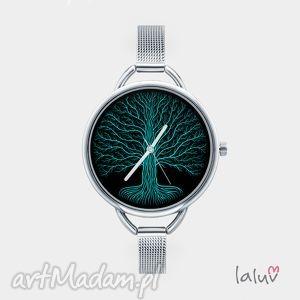 zegarek z grafiką konary, etniczne, życie, natura, drzewo, korzenie, liście