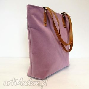 Shopper bag, wrzosowa, torba, modna, fashion