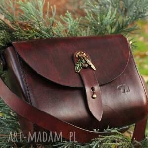 handmade na ramię zestaw matilda pasek damski w kolorze koniakowym