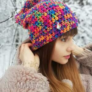 hand-made czapki czapka beanie smerfetka