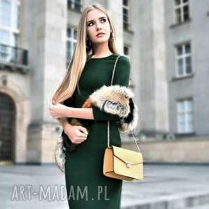 sukienki sukienka greta midi zieleń, ołówkowa, dopasowana, sukienka, midi, elegancka