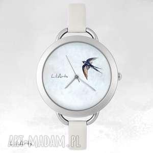 zegarki zegarek, bransoletka - jaskółka, bransoletka, skórzana, grafika