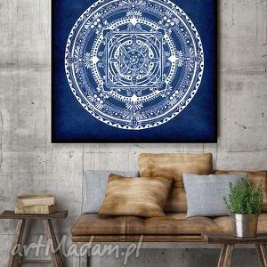 mandala 50x50cm, mandala, granat, dekoracje, plakat, rysunek
