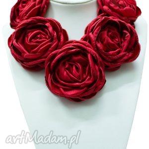 Kwiatowa kolia - model 12 czerwień, kolia, naszyjnik, kwiaty