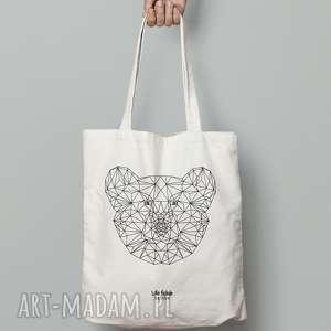 torebki torba bawełniana z misiem, torba, zakupy, miś, niedźwiedź, outline