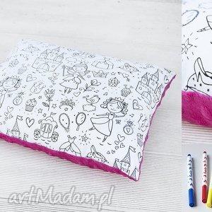 Prezent Poduszka- Kolorowanka świat księżniczki , zabawka, poduszka, kolorowanka