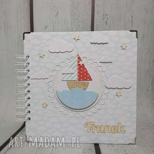scrapbooking albumy ahoy marynarzu, łódka, marynarz, chrzest, narodziny, urodziny
