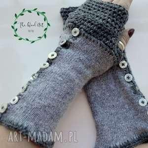 rękawiczki mitenki, rękawiczki, na dłonie, prezent, wełniane