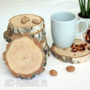 drewniana podkładka pod kubek - brzoza, podkładka, kubek, pod, podstawka, kuchnia